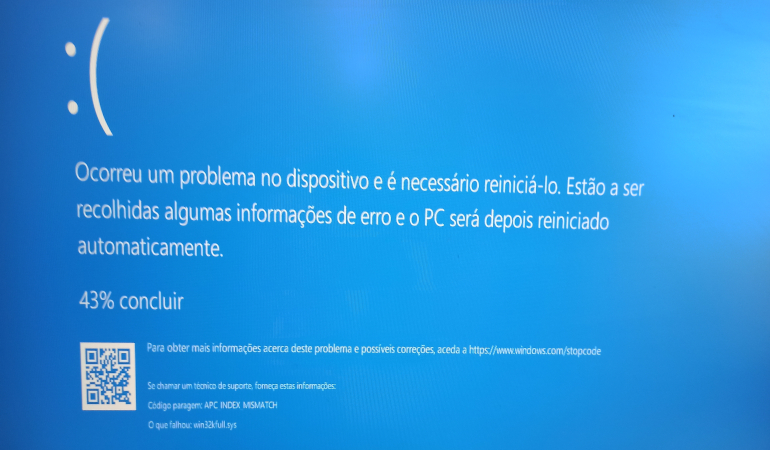 Erro de ecrã Azul ao tentar imprimir